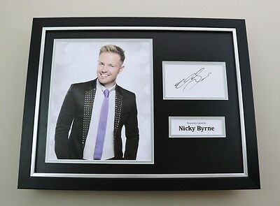 Nicky Byrne Signed Photo Framed 16x12 Westlife Autograph Memorabilia Display COA