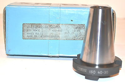 NOS Narex CZECH Made  MILLING MACHINE ADAPTOR ISO 40 to 30 #420-035