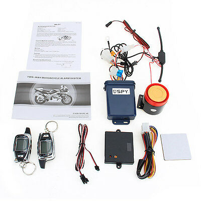 5000M 2 Way Motorcycle Alarm 2 LCD Remote Control Engine Start Security System