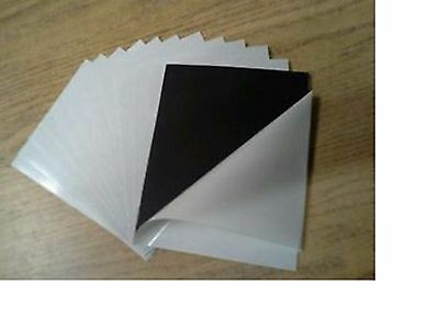 """100 ADHESIVE 30 mil MAGNETIC MAGNET PHOTO SHEETS 4"""" x6"""" Magnet Valley Made in US"""
