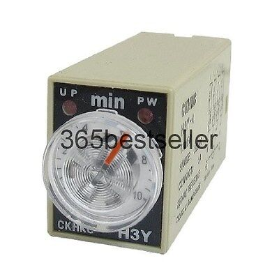 H3Y-4 AC 220V 4PDT 0-10 Minutes 10M 14 Pins Power on Time Delay Relay