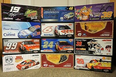 Case of 12 - 1/24 2004-2007 NASCAR Action Diecast Cars - NEW in boxes!