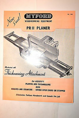 MYFORD WOODWORKING EQUIPMENT PRII PLANER Nr. 1102 1967 #RR855 Jointer  ML8 Lathe