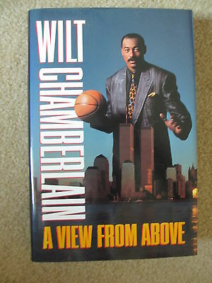 Wilt Chamberlain Signed 1st Edition A View From Above Autobiography JSA Cert