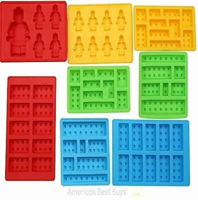 Best 8pc Silicone Molds Lego Lovers Candy Chocolate Maker Baking Mold Gummy