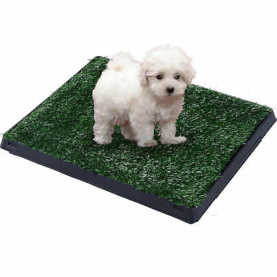 "30"" Large Pet Dog Toilet Grass Pad Restroom Potty Training w/Tray Indoor Outdoor"
