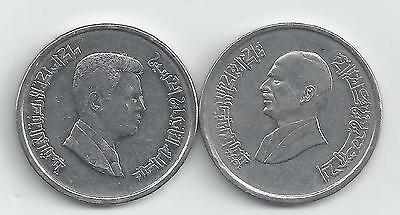 2 DIFFERENT 10 PIASTRE COINS from JORDAN - 1996 & 2004 (2 TYPES)
