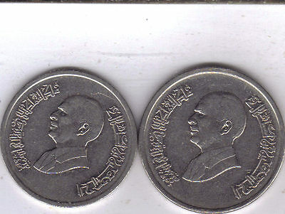 2 COINS from JORDAN - 5 & 10 PIASTRES (BOTH 1993)