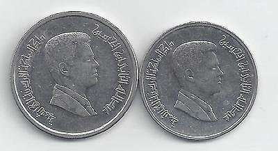 2 DIFFERENT COINS from JORDAN - 5 & 10 PIASTRES (BOTH DATING 2009)