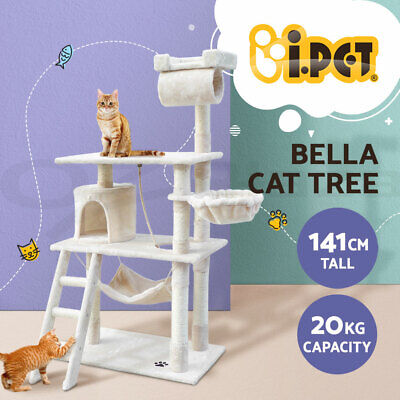 i.Pet Cat Scratching Tree Scratcher Post Pole Furniture House Toy Small 141cm BE