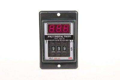 ASY-3D AC 220V Power on Delay Timer Time Relay 1-999 Second 999S 8 Pins