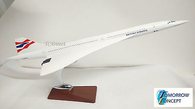 47cm 1:130 British Airways Concorde Airplane Fibreglass Resin Plane Toy Model
