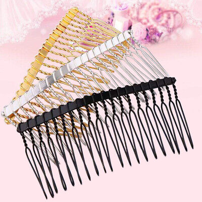50Pcs 20 Teeth Wholesale Metal Hair Clips Side Combs Pin Barrettes Craft DIY