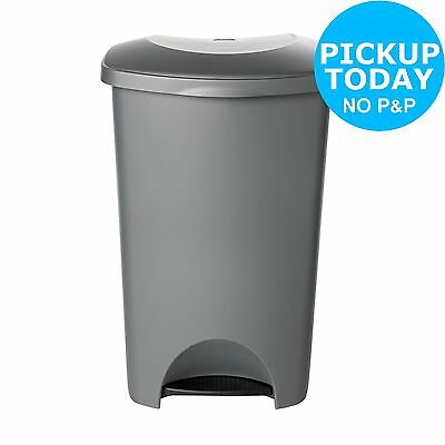 HOME 50 Litre Pedal Bin - Silver. From the Official Argos Shop on ebay