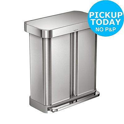 simplehuman 58L Recycler Bin - Stainless Steel - From the Argos Shop on ebay