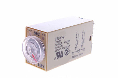 NEW timer relay 8pin H3Y-2 H3Y AC220V  5A 0.1-1.0Seconds 1S