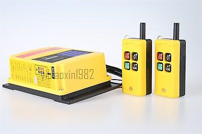 F21-2S 2 Emitters  1 receiver Industry Wireless Crane Remote Control AC 36V