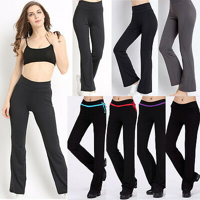 Womens Ladies Yoga Fitness Running Leggings Gym Exercise Sports Pants Trousers
