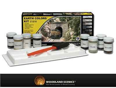 Woodland Scenics C1215 Earth Colour Kit 8x 29.5ml