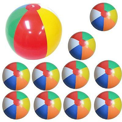 10PC 25CM Inflatable Swimming Pool Party Water Game Balloon Beach Ball Toy Fun