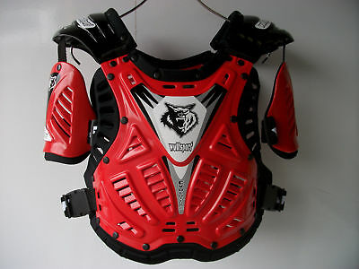 Ufo Ce Red Body Armour Motocross Enduro Chest Protector Stone Deflector Tabard