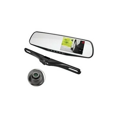 PYLE PLCMDVR45 HD Rearview Mirror Monitor & Dual-Camera System with Built-in ...