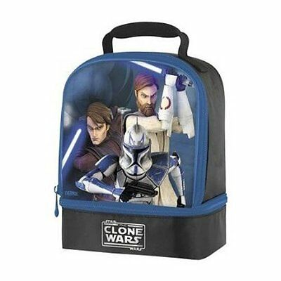 Thermos Boys Clone Wars Lunch Box Bag Insulated Comfortable Easy-clean Fabric