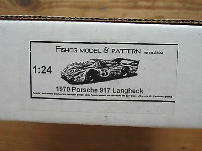 Fisher Model 1:24 Nit Nr. 2409 1970 Porsche 917 Langheck resin car Modellbausatz
