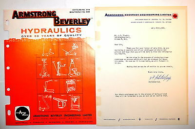 ARMSTRONG BEVERLEY HYDRAULICS Jack  Press Crane No216 WEATHERLY No920 RR785