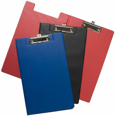 2 x Tiger A4+foolscap size clipboard - foldover assorted colours x 1 single