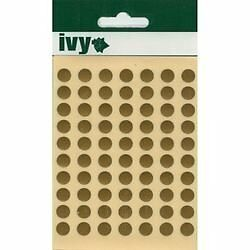 Gold 8mm Round, Dot Stickers Labels, Circle Sticky Adhesive