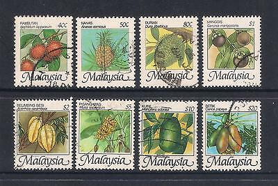 (UXMY058) MALAYSIA 1986-2000 National Fruits fine used complete set