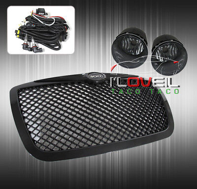 05-2010 Chrysler 300C Black Grille Grill Emblem+ Smoked Driving Fog Light Lamps