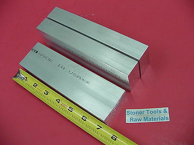 "3 Pieces 5/8"" X 2"" ALUMINUM 6061 FLAT BAR 7"" long T6511 Solid Plate Mill Stock"