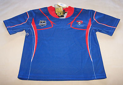 Newcastle Knights NRL Boys Blue Red Supporter Home Jersey Size 00 New