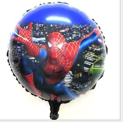 Lot spider-man Birthday Party Decoration Supplies Round Foil Balloon 45x45cm M01