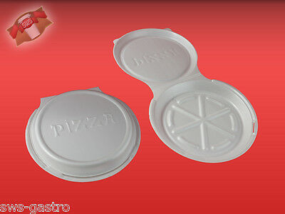 (75524) 125 Pizzaboxen Pizza Box Pizzakarton weiß Ø 24 cm EPS
