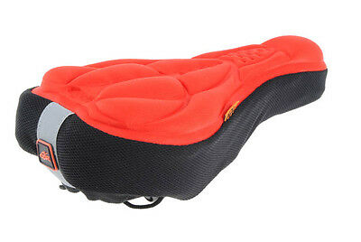 Red Bike Cycle Bicycle Extra Comfort Gel Pad Cushion Cover for Saddle Seat