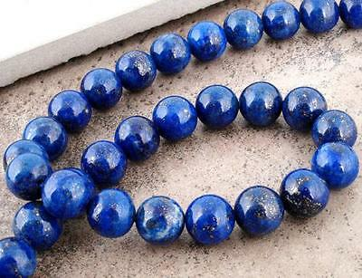 PREMIUM QUALITY LAPIS LAZULI GEMSTONE BEADS 10mm 20 Beads