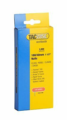 "Tacwise 180 Series Nails 40mm (1 1/2"") Galvanised Box Of 1000 Brads Nail 0747"