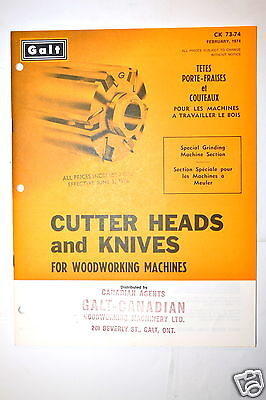 GALT Canada CUTTER HEADS & KNIVES FOR WOODWORKING CATALOG RR560