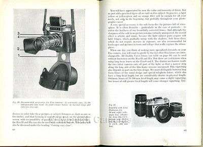 The EXA Book, Instructions for I II a Cameras & Lenses 1965. More Manuals Listed