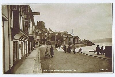ABERDOVEY Sea View Terrace, RP Postcard by Valentine Postally Used 1931