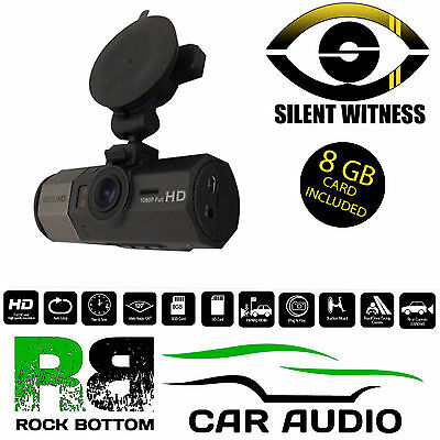 Silent Witness SW012 Car Taxi Vans Driver & Road Facing HD Dash Cam Camera 8GB
