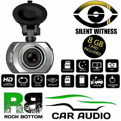 Silent Witness SW237 Car Taxi or Vans Night Vision HD DVR Dash Cam 8GB SD Card