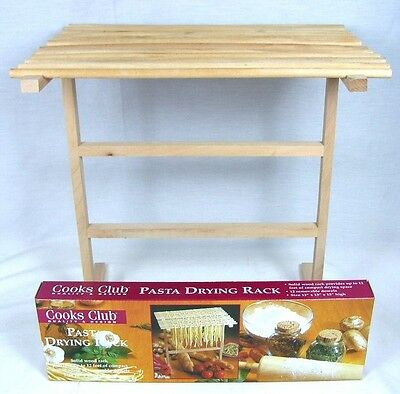 Lot of 4 Cooks Club Solid Wood Pasta Drying Rack Spaghetti Noodle Lasagna B-15