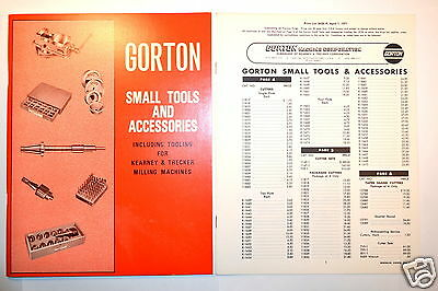 Gorton Tools & Accessories Including 4  Kearney & Trecker Milling Machine #rr588