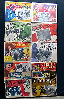 Jorge Negrete Lobby Card Collection 1940S 1950S