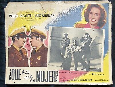 Pedro Infante 8 Lobby Card Collection La Mujer Que Yo Perdi Angelitos Negros