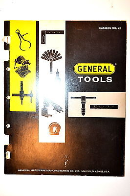 GENERAL HARDWARE Mfg 73pg CATALOG No. 70 1970 RR603 file punch drill clamp Vise